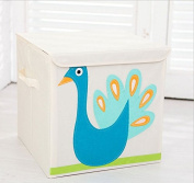 Collapsible Cube Storage Box and Toy Bin with Lid 33cm -Perfect for Organising Kid's Toys,Clothing,Books, Gift Baskets