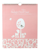 "Baby's First Year Calendar Keepsake with Milestone Stickers ""Woodland Baby"" Baby Girl Record Keeping Calendars"