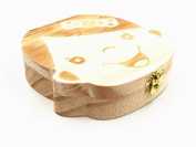 Kinteshun Baby Milk Teeth Preservation Wooden Box,Tooth Fairy Box Deciduous Souvenir Organiser