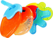 BabyBoo Water-Filled Teething Keys Toy –Hard and Soft – 4 Piece with Small Gum Massaging Bumps for Baby by Utopia Home