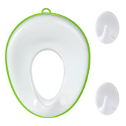 Potty Training Seat For Boys and Girls,Potty Ring for Round And Oval Toilets,Toddlers Toilet Trainer,Ideal Portable Travel Potty Seat,White Toilet Seat With Hooks By Vicsou