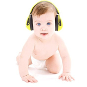 BEBE Muff Hearing Protection - BEST USA Certified Noise Reduction Ear Muffs, Lemon, 3 months+