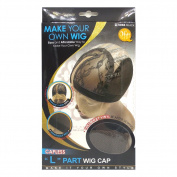 Qfitt Make Your Own Wig Capless L Part Wig Cap #5066 Black