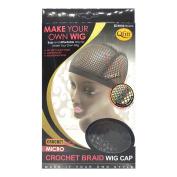 Qfitt Make Your Own Wig Micro Crochet Braid Wig Cap #5032 Black