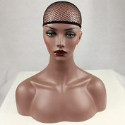 PlatinumHair Black Net Wig Cap Open End Mesh Net Wig Cap for Synthetic and Human Hair 1 Pack