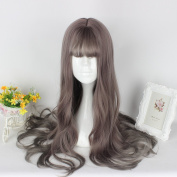 Mcoser 65CM Long Curly Air Bang Fashion Hair Lolita Party Wig.Light Brown)