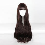Mcoser 65CM Long Curly Air Bang Fashion Hair Lolita Party Wig