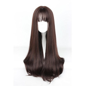 Mcoser 65CM Long Straight Air Bang Fashion Hair Lolita Party Wig