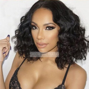 Jolitime Hair Funmi Hair Wigs Synthetic Lace Front Wigs Short Wave Bob Wigs For Black Women