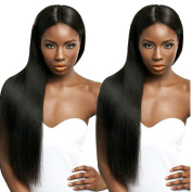 Luxwig 7A Silky Straight Virgin Hair Lace Front Wig Brazilian Remy Human Hair Straight Hair Wigs With Baby Hair For African Americans 130% Density Naturl Colour