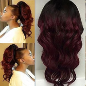 Ten Chopstics Wigs Full 180% Density Body Wave 1BT99j Ombre Human Hair Wigs Glueless Full Lace Wigs 99J Two Tone Brazilian Lace Front Wigs with Baby Hair Stock for Black Women