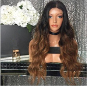 Miss diva Brazilian Hair Body Wave Lace Front Wigs Human Hair with Baby Hair 150% Density Human Hair Wig Ombre 1b/30 Hair wigs for Black Women 50cm