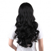 Becoler Black Wig Curly Hair Cosplay Wig Costume Party Wig