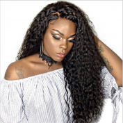 MeiRun 180% Density Full Lace Human Hair Wigs Kinky Curly Brazilian Curly Lace Front Wig 7A Virgin Human Hair Wig Natural Black Colour