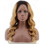 RIJIA Lace Front Wig Body Wave Glueless Full Lace Wigs Human Hair Ombre Wig Black Roots 1BT27 100% Brazilian Virgin Hair Wig With Baby Hair