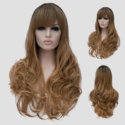 YAMEIJIA Flax micro volume long hair and the wind nightclub performances Street colour million with a partial wig.