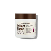 Brilliant Blonde Purple Mask 16.9 oz (500 ml). Tones & Conditions Blonde Hair. Low pH Formula, Sulphate Free, Gluten Free