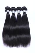CXYP Straight Human Hair 4 Bundles Natural Colour Unprocessed Virgin Brazilian Hair Weave Extensions Silky Straight Human Hair Weft Bundles