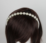 Venici Womens Faux Pearl & Rhinestone Great Gatsby Inspired Headband Hair Accessory