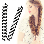 KroO Fashion Hair Styling DIY Fishtail Braid Braiding Tool for Women - AS SEEN ON TV