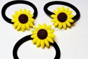 Fashion Elastic Rope Ring Sunflower Hair Band Rope Ponytail Holder Women Girl