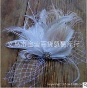 HailieBridal Women's Rhinestone Feather Bridal Headpiece