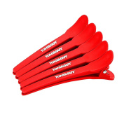 Professional Single Prong Scrub Alligator Hair Clips for Women with Thick Hair or Thin Hair 12 Pcs 10cm Red Hair Pins for Styling