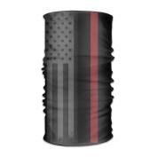DahelinG Unisex Stylish USA Thin Red Line Flag Quick Dry Microfiber Headwear Outdoor Magic Bandana As Neck Gaiter Head Wrap Headband Scarf Face Mask Ultra Soft Elastic One Size