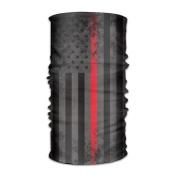 DahelinG Unisex Stylish Thin Red Line Flag USA American Quick Dry Microfiber Headwear Outdoor Magic Bandana As Neck Gaiter Head Wrap Headband Scarf Face Mask Ultra Soft Elastic One Size