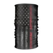 DahelinG Unisex Stylish USA America Thin Red Line Flag Quick Dry Microfiber Headwear Outdoor Magic Bandana As Neck Gaiter Head Wrap Headband Scarf Face Mask Ultra Soft Elastic One Size