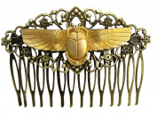 Scarab Hair Comb Decorative hair combs Egyptian Revival flying Scarab Hair Accessories MyElegantThings