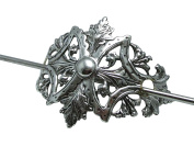 Art Nouveau inspired hair stick pony tail holder Shawl Holder Angelina Verbuni Designs USA