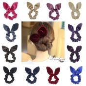 Susulu 12 Pack Hair Scrunchies Velvet Scrunchy Bobbles Elastic Hair Bands