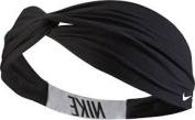 Nike Logo Twist Headband, Black & White, NJNH4