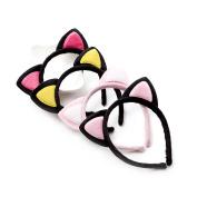 Cat Ear Furry Black Hairbands Lovely Headbands for Kids Girls Women,4 Colours