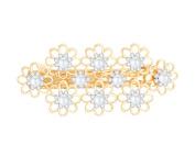 TEEMI Vintage Crystal Pearl Hair Barrette Oval Metal Hollow Bridal Wedding Hair Pins Clips for women