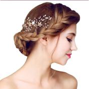 YAZILIND Beauty Bridal Wedding Hair Clip Barrette Party Rhinestones Flower Alloy Women Hair Accessories