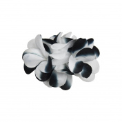 Black and White Two Tone Fresh Flower Clip