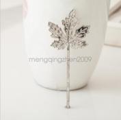 Silver - Women Girl Beautiful Cute Charming New Arrival Maple Leaf Hair Clip Jewellery