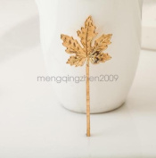 Rose Gold - Women Girl Beautiful Cute Charming New Arrival Maple Leaf Hair Clip Jewellery