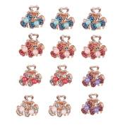 Yishenyishi 12 Pcs Butterfly Mini Hair Snap Claw Clip, Women Girls Mini Flower Jaw Clips.