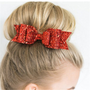 JYS365 Girls Cute Shining Bowknot Spring hair clipp Glitter Bow Barrette Hair Accessory