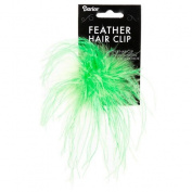 Better Crafts HAIR CLIPS FEATHER LIME (6 pack)