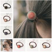 Casualfashion 6Pcs Elastic Hair Ties Rope Ponytail Holder Female Women Girls Hair Accessories