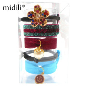 midili Hair Ties Ponytail Holders 5 Pcs No Crease Ouchless Elastic Styling Accessories Pony Tail Holder Ribbon Bands