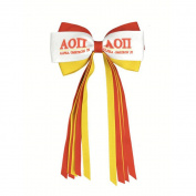 Alpha Omicron Pi AOII Streamer Bow