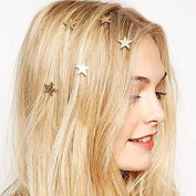 Coobbar 20PCS Twist wedding Small Mini Metal Gold Colour Star Hairpins Women Girl Swirl Hair Pins