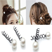 Coobbar 10 pcs Black Metal Twist Hair Pin Grips Spirals Bobby Hair Pins for Women