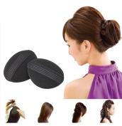 Flyusa 2 Pairs Bump It Up Volume Hair Base Styling Insert Tool Do Beehive Hair Styler Stick Bun Maker Braid Tool Hair Accessories for Women