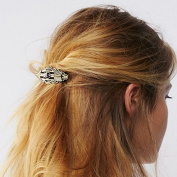 FASCHI 11 Styles Rhinestone Metal Hairpin Hairgrip, Hair Clip Geometric Barrette Bobby Pin Ponytail Holder Styling Jewellery